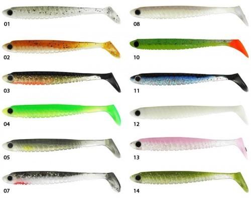 Les coloris du leurre souple de biwaa