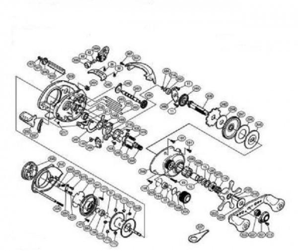Mécanisme d'un moulinet casting