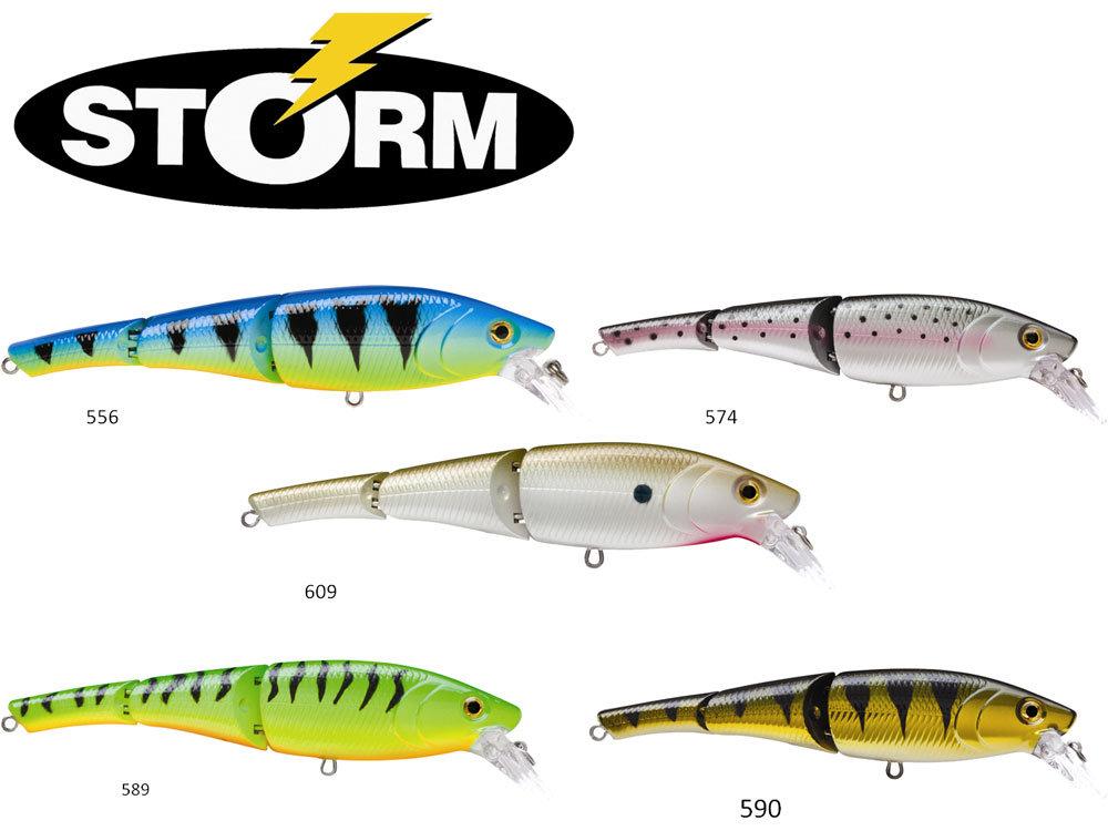 Les coloris du leurre swimmin stick de storm pour la pêche au brochet !