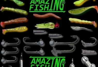 les leurres souples amazing fishing