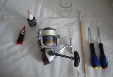 Le matériel pour entretenir son moulinet