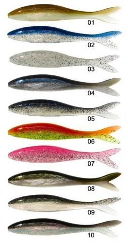 Les différents colorsi du leurre souple nitro sprat