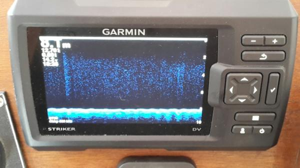 la fonction down vu du garmin striker 5dv avec la technologie chirp